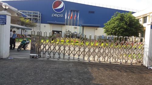 Thi công hệ thống cổng xếp cho công ty Pepsi Việt Nam