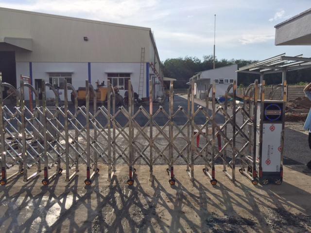 Thi công cho công trình cổng xếp tại Biên Hòa Đồng Nai