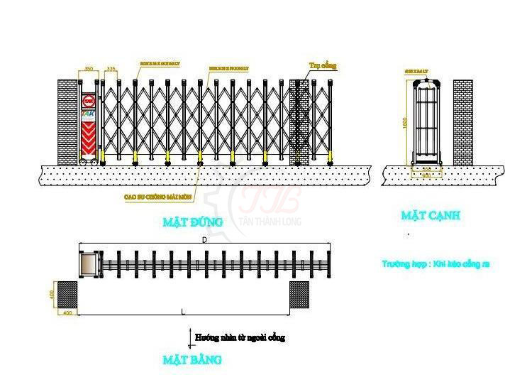 Quy trình để lắp đặt hoàn chỉnh sản phẩm cổng xếp inox